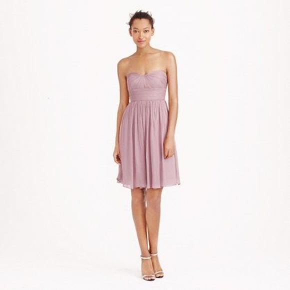 73e8838aef1 J Crew Petite Nadia Dress in Silk Chiffon - Mauve